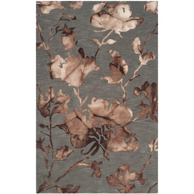 Danny Gray/Beige Area Rug Rug Size: Rectangle 9 x 12