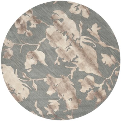 Danny Gray/Beige Area Rug Rug Size: Round 7