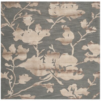 Danny Gray/Beige Area Rug Rug Size: Square 7
