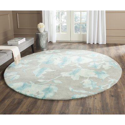 Danny Gray/Turquoise Area Rug Rug Size: Rectangle 4 x 6