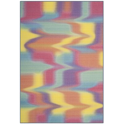 Maia Paint Brush Fuchsia/Yellow Area Rug Rug Size: 8 x 10
