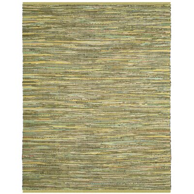 Myah Hand-Woven Light Green Area Rug Rug Size: Round 6