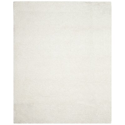Rosa Shag Hand-Tufted White Area Rug Rug Size: 4 x 6