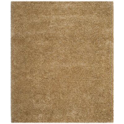Rosa Shag Hand-Tufted Brown Area Rug Rug Size: 5 x 8