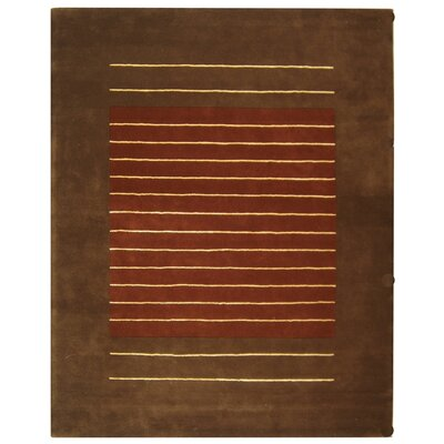 Chidi Rust/Brown Area Rug Rug Size: Rectangle 83 x 11