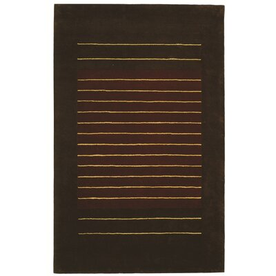 Chidi Rust/Brown Area Rug Rug Size: 36 x 56