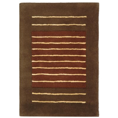 Chidi Rust/Brown Area Rug Rug Size: Rectangle 2 x 3