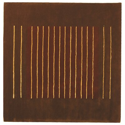 Chidi Rust/Brown Area Rug Rug Size: Square 6