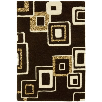 Chidi Brown/Beige Wool Area Rug Rug Size: Rectangle 36 x 56