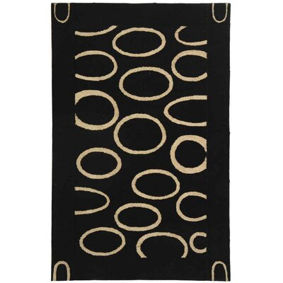 Chidi Black/Ivory Area Rug Rug Size: Rectangle 5 x 8