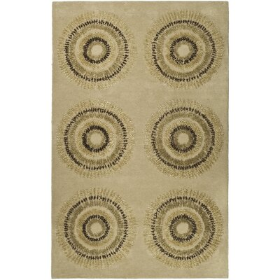 Chidi Beige/Gold Area Rug Rug Size: Rectangle 36 x 56