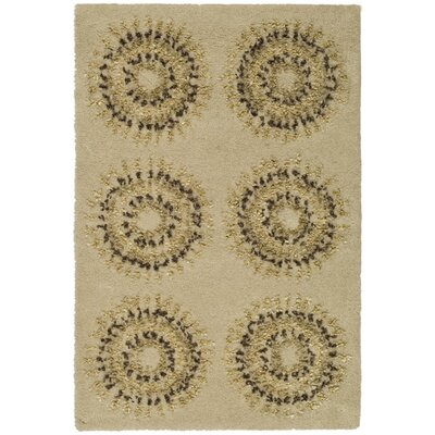 Chidi Beige/Gold Area Rug Rug Size: Rectangle 2 x 3