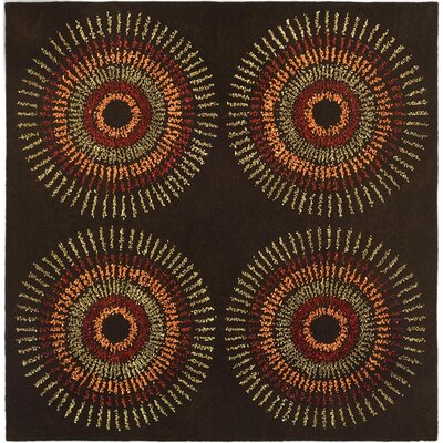 Chidi Brown/Gold Area Rug Rug Size: Square 6