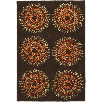 Freda Brown/Gold Area Rug Rug Size: 2 x 3