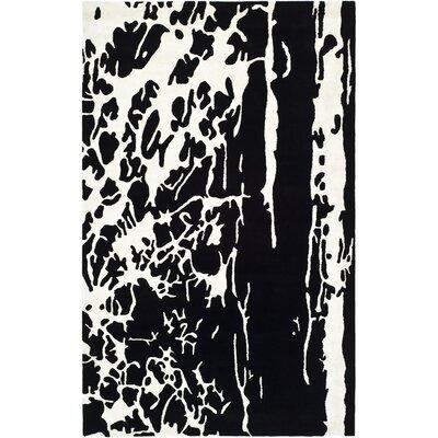 Freda Black Area Rug Rug Size: 36 x 56