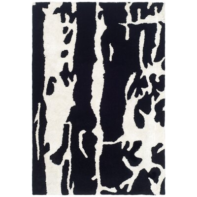 Freda Black Area Rug Rug Size: 2 x 3