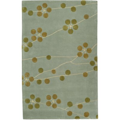 Chidi Light Blue/Gold Area Rug Rug Size: Rectangle 76 x 96