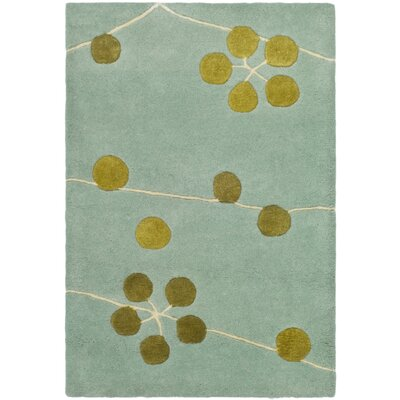 Chidi Light Blue/Gold Area Rug Rug Size: Rectangle 2 x 3