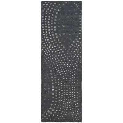 Freda Dark Gray Area Rug Rug Size: Runner 26 x 16