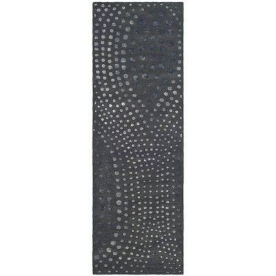 Freda Dark Gray Area Rug Rug Size: Runner 26 x 8
