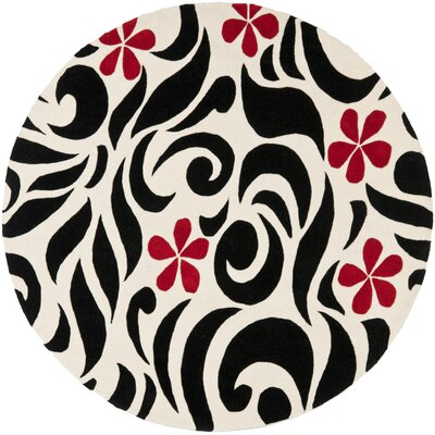 Chidi Wool Area Rug Rug Size: Round 6