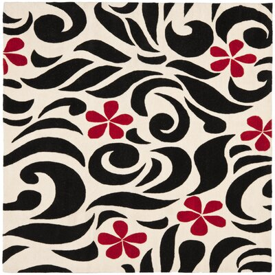 Chidi Wool Area Rug Rug Size: Square 6