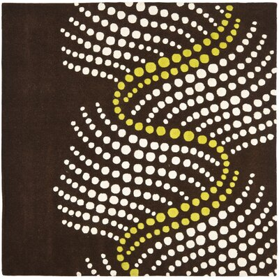 Freda Brown/Beige Area Rug Rug Size: Square 8