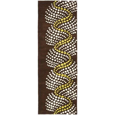 Chidi Brown/Beige Area Rug Rug Size: Runner 26 x 8