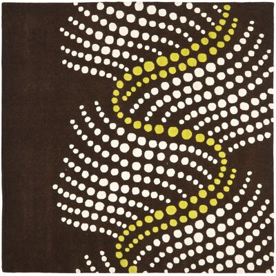 Chidi Brown/Beige Area Rug Rug Size: Square 6