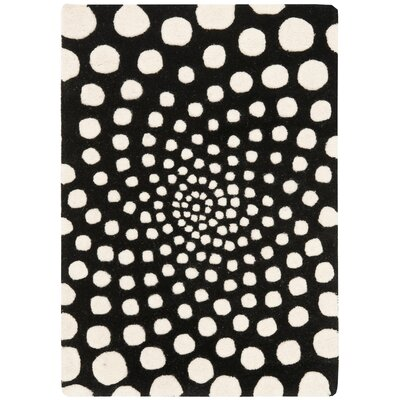 Chidi Black/Ivory Contemporary Rug Rug Size: 2 x 3