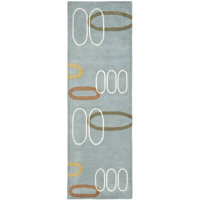 Freda Dark Blue/Dark Multi Contemporary Rug Rug Size: Runner 26 x 8