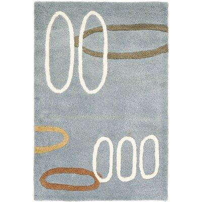 Freda Dark Blue/Dark Multi Contemporary Rug Rug Size: 2 x 3
