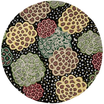 Chidi Contemporary Area Rug Rug Size: Round 6