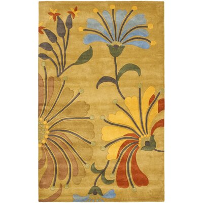 Chidi Golden Olive Contemporary Rug Rug Size: 5 x 8