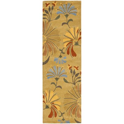 Chidi Golden Olive Contemporary Rug Rug Size: Runner 26 x 8