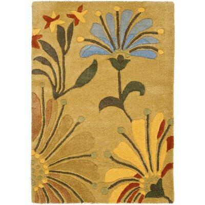 Freda Golden Olive Contemporary Rug Rug Size: 2 x 3