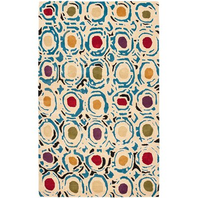 Freda Contemporary Light Ivory Area Rug Rug Size: 76 x 96