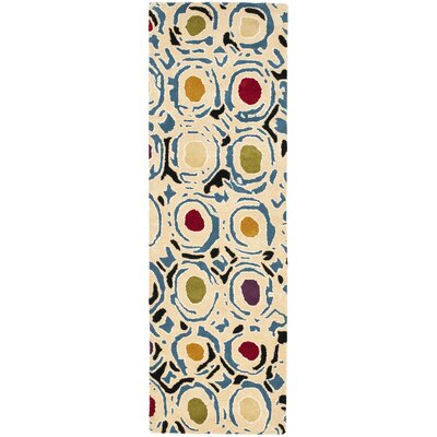 Chidi Contemporary Light Ivory Area Rug Rug Size: Runner 26 x 8