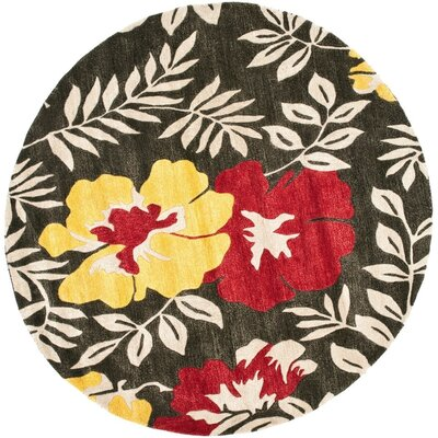 Chidi Light Dark Brown/Light Dark Multi Contemporary Rug Rug Size: Round 6