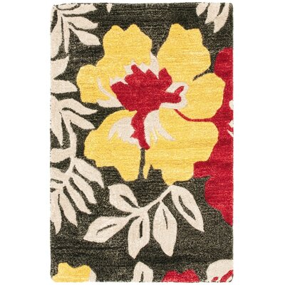Chidi Light Dark Brown/Light Dark Multi Contemporary Rug Rug Size: 2 x 3