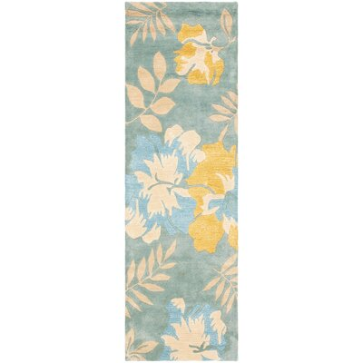 Chidi Light Blue Multi Contemporary Rug Rug Size: Runner 26 x 12