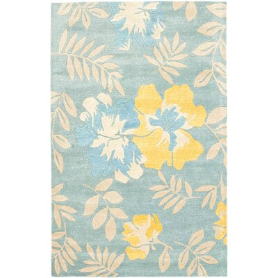 Chidi Light Blue Multi Contemporary Rug Rug Size: 76 x 96