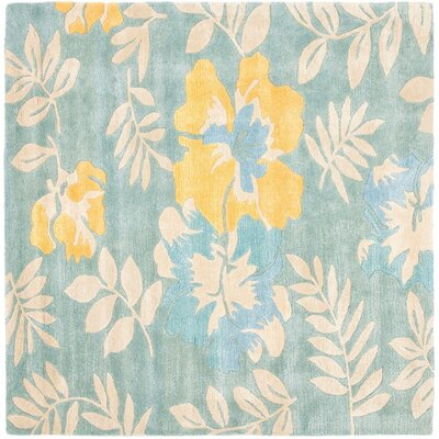 Chidi Light Blue Multi Contemporary Rug Rug Size: Square 6