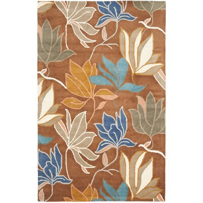 Freda Brown/Dark Light Multi Contemporary Rug Rug Size: 36 x 56