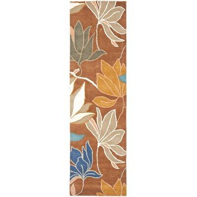 Freda Brown/Dark Light Multi Contemporary Rug Rug Size: Runner 26 x 8