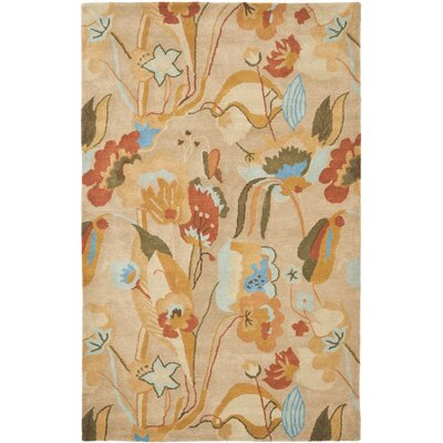 Della Beige/Multi Contemporary Rug Rug Size: Rectangle 36 x 56