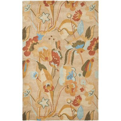 Della Beige/Multi Contemporary Rug Rug Size: Rectangle 5 x 8