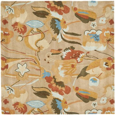 Freda Beige/Multi Contemporary Rug Rug Size: Square 6