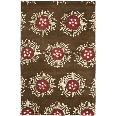 Chidi Brown/Multi Contemporary Rug Rug Size: Rectangle 36 x 56