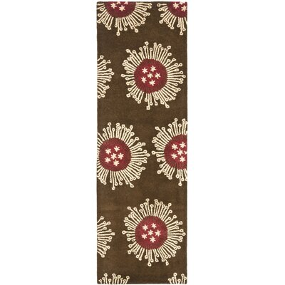 Chidi Brown/Multi Contemporary Rug Rug Size: Runner 26 x 8